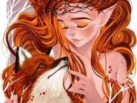 Foto autunnale dai capelli rossi