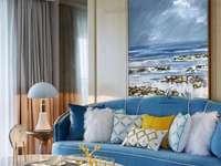 Camera de zi - Tema mării în sufragerie