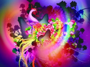 Abstracción colorida - Un ejemplo de hermosa abstracción colorida.