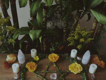 magic composition - witchy pentagram compositions esthetic