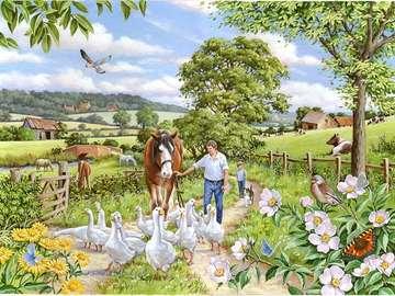 Rural landscape. - Puzzle: rural landscape.