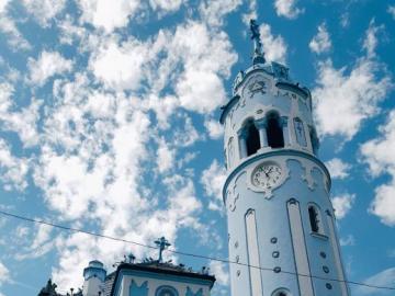 Church in Bratislava - Blue Church in Bratislava, Slovakia