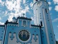 Kirche in Bratislava - Blaue Kirche in Bratislava, Slowakei