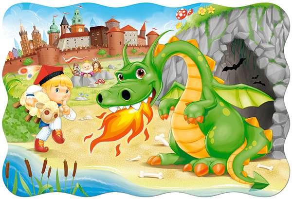 smokwawelskisp - Легендата за дракона Вавел. Дракон Вавел. Дракон Wawel за деца от sp. Тематични пъзели, легенда за дракона Вавел. П (5×5)