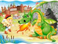 smokwawelskisp - The legend of the Wawel Dragon. Wawel Dragon. Wawel dragon for children from sp. Themed puzzles, leg