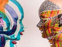Human inspiration - Two faces in the picture, inspiration, abstraction, puzzle art