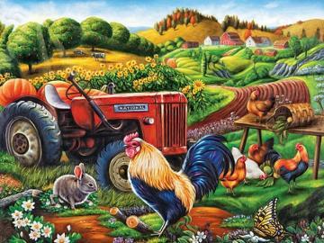 Nella campagna polacca - Animali in forma, puzzle per bambini.