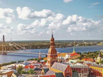 Estonia z lotu ptaka - Estonia to państwo w Europie Północnej, nad Morzem Bałtyckim, powstałe po I wojnie światowej.
