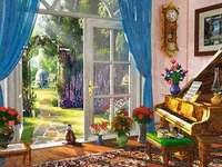 Interior. - Jigsaw puzzle. Building. Interior.