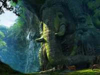 Paesaggio degli elefanti - elefante animale animale animale