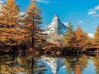 Matterhorn in de herfst.