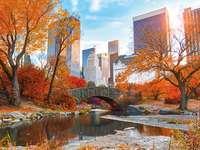 Parque em Nova York - Paisagens de quebra-cabeça. Natureza em Nova York, quebra-cabeça online.