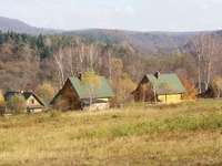 Autunno nelle montagne Bieszczady.