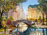 Un grande paesaggio urbano