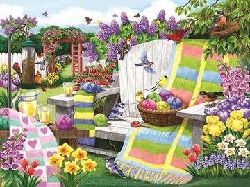 W kolorowym ogrodzie. - Układanka: w kolorowym ogrodzie