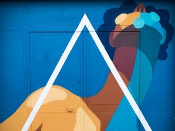 Sztuka nowoczesna na murze - Mural w Sewilli, Hiszpania