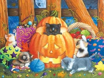 Halloveen. - Halloween puzzles for children.