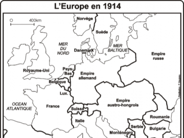 CarteEscapeGame - Map of Europe during the war 14-18