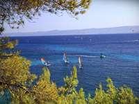 Croația. - Insula Brac. Pe insula croată Brac. Europa. Croată. Insula Brac.