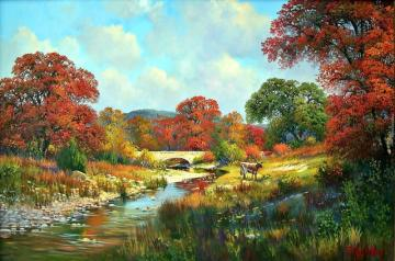 Autumn Landscape. - Autumn landscape with a fudge.