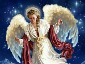 Guardian angel. - Puzzle: beautiful Guardian Angel.
