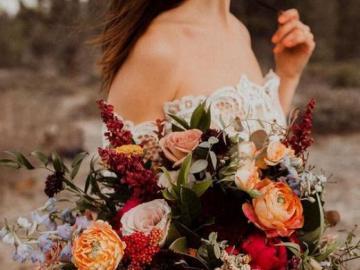 Herbststrauß - Herbstblumenblumenstrauß für die Heirat
