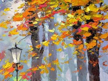 Autumn art - A pair of autumn trees