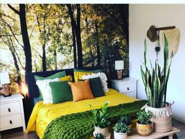 Forest bedroom - Bedroom in the forest, arrangement