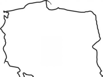 Contour map of Poland - Map of Poland. Contour, the map can be printed, and additional features of voivodships can be added