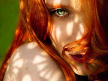 ginger portrait - magnificent eyes magical