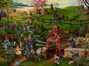 Rolniczy obrazek. - Krajobrazowy rolniczy obrazek.