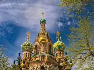 Church in Saint Petersburg, Russia - Travels towards Russia. Church in Saint Petersburg.