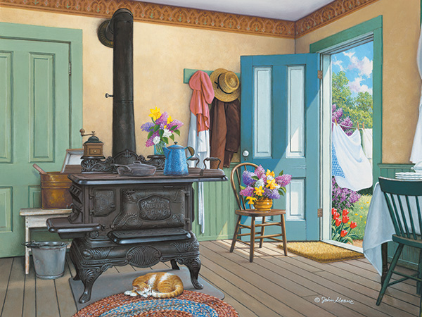 Küche innenraum - Puzzle: Kücheneinrichtung (10×10)