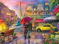 Parisian landscape. - Europe. Parisian landscape. Landscape. Colorful Paris. Colorful Paris.