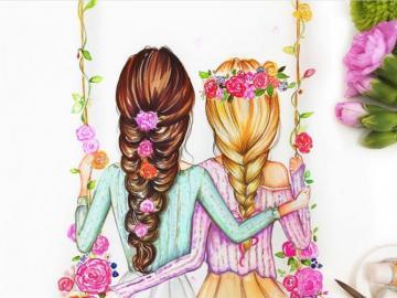 Best Friends Forever ♥ - Fajne puzzle. Przyjaciółki