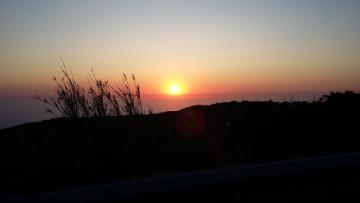 sunset on Cabo da Roca - sunset on the westernmost piece of Europe - Cabo da Roca in Portugal