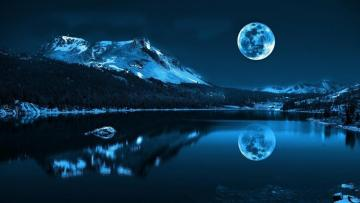 Mountains by Night - Landscapes at night are great to look at.
