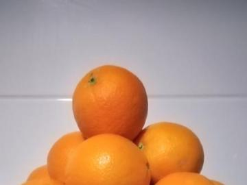 O - Fruits - Oranges in a dish