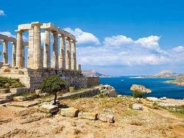 Greek ruins. - Puzzle: Greek Ruins.