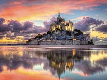 Mont Saint Michel. - Układanka: Mont Saint Michel.