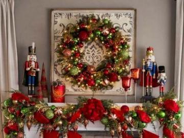 Świąteczne dekoracje - Świąteczna dekoracja kominka