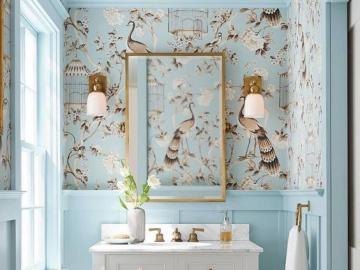 Błękit w łazience - Pięknie urządzona łazienka