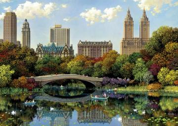Central Park im Herbst. - Puzzle: Central Park im Herbst.