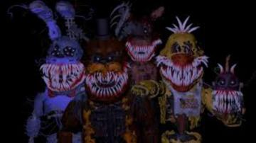 FNAF Corrupted Animatronics puzzle - This is a puzzle about the corrupted animatronics from FNAF