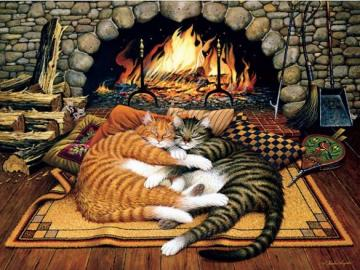 Two cats. - Jigsaw puzzle. Animals. Two cats.