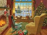 Christmas interior - Puzzle: Christmas interior.