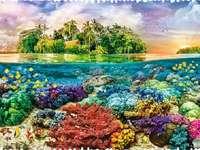 Ilha Tropical - Quebra-cabeça: uma ilha tropical.