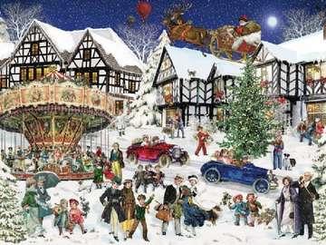 Święta w śniegu - W mieście na ulicy zabawa na śniegu