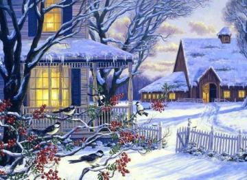 Winter in the countryside. - Puzzle: winter in the countryside.