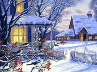 Zima na wsi.